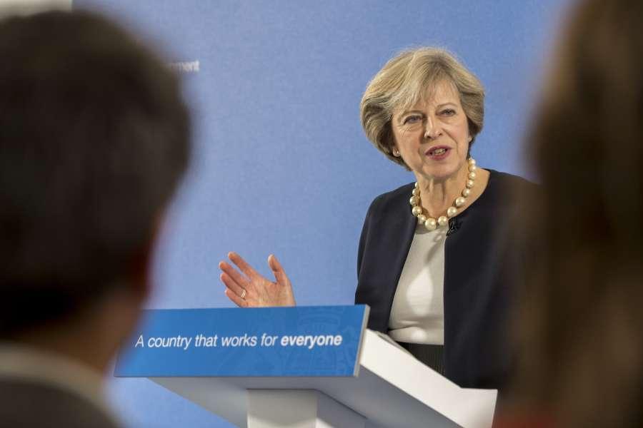 Prime Minister Theresa May at the British Academy, London