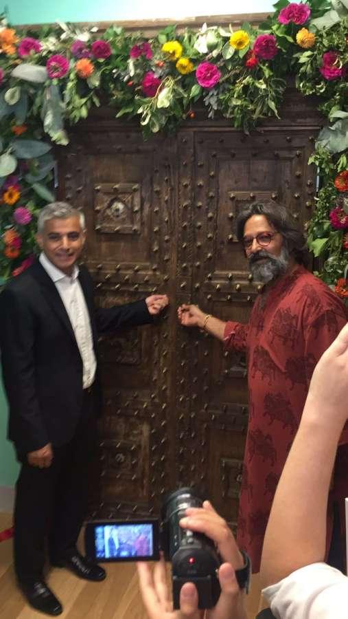 London Mayor Sadiq Khan with Tara Theatre director Jatinder Verma
