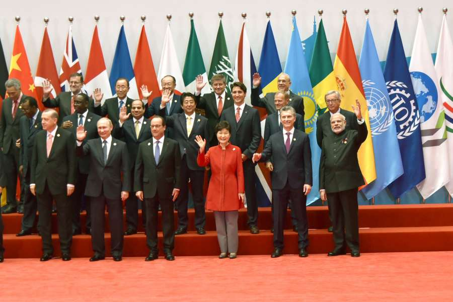 Modi with other world leaders in a family photograph, at G20 Summit 2016, in Hangzhou, China