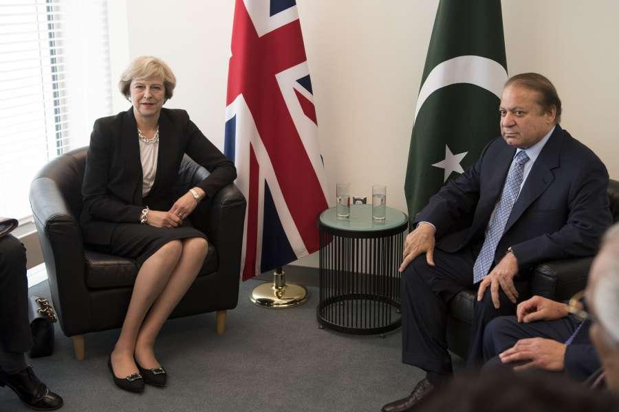 Prime Minister Theresa May meets Pakistani counterpart Nawaz Sharif at No 10 Downing Street