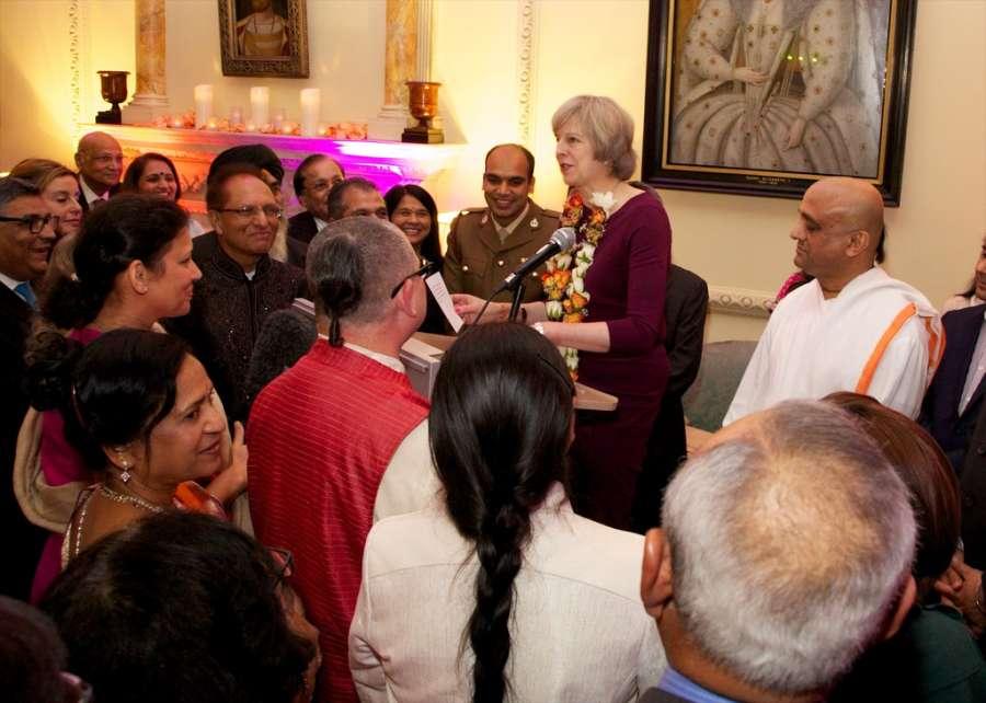 British Prime Minister Theresa May hosts Diwali reception at No 10
