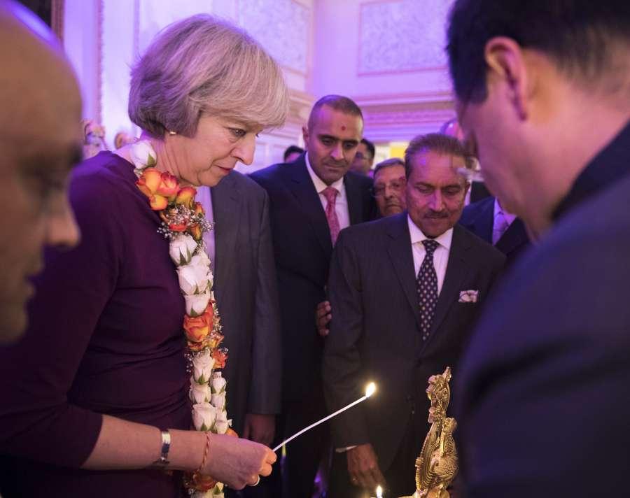 Prime Minister Theresa May hosts Diwali reception at No 10 Downing Street
