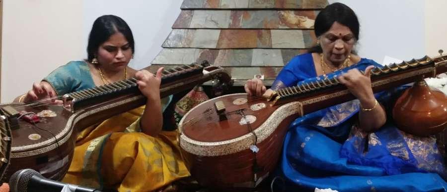 'Veena Paani' Smt Emani Kalyani with daughter Padmini Pasumarthy