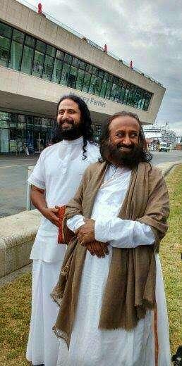 Swami Jyotirmoya with Sri Sri