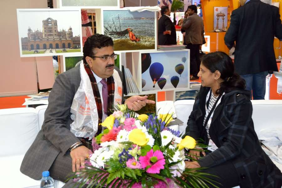 Mr Navneet Sehgal, Principal Secretary for Tourism, Uttar Pradesh with Ragasudha Vinjamuri
