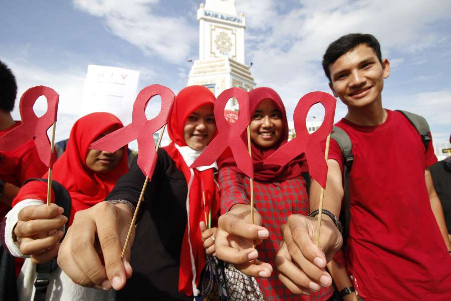 (WORLD SECTION) INDONESIA-ACEH-WORLD AIDS DAY