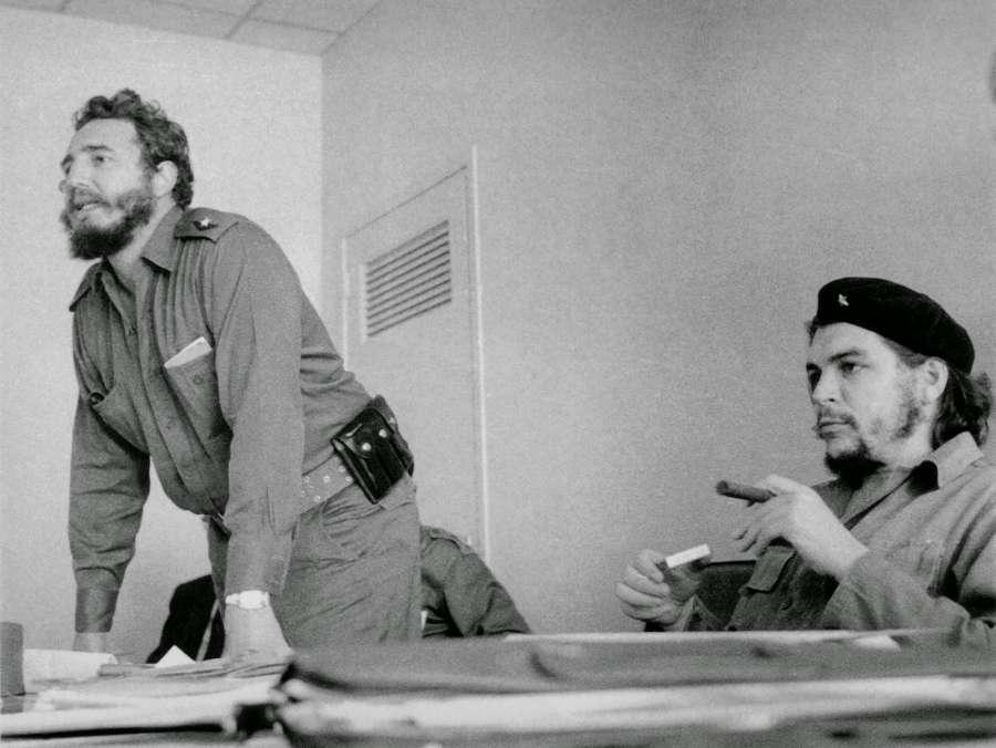 Comrade Castro with Che