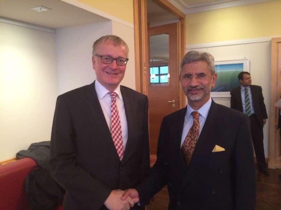 Foreign Secretary Dr. S. Jaishankar with German State Secretary Dr. Markus Ederer