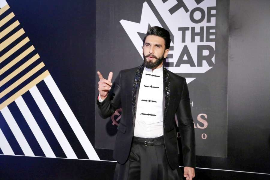 Mumbai: Actor Ranveer Singh during the GQ India Men of the year Award 2016 ceremony, in Mumbai, on Sept 27, 2016. (Photo: IANS)