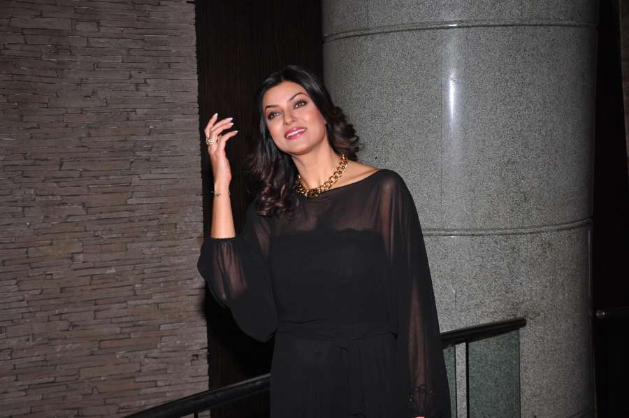 Actress Sushmita Sen during the launch of The English Manner Finishing and Style Academy (A Wasan Knowledge Hub) in Mumbai on Dec 1, 2014. (Photo: IANS)