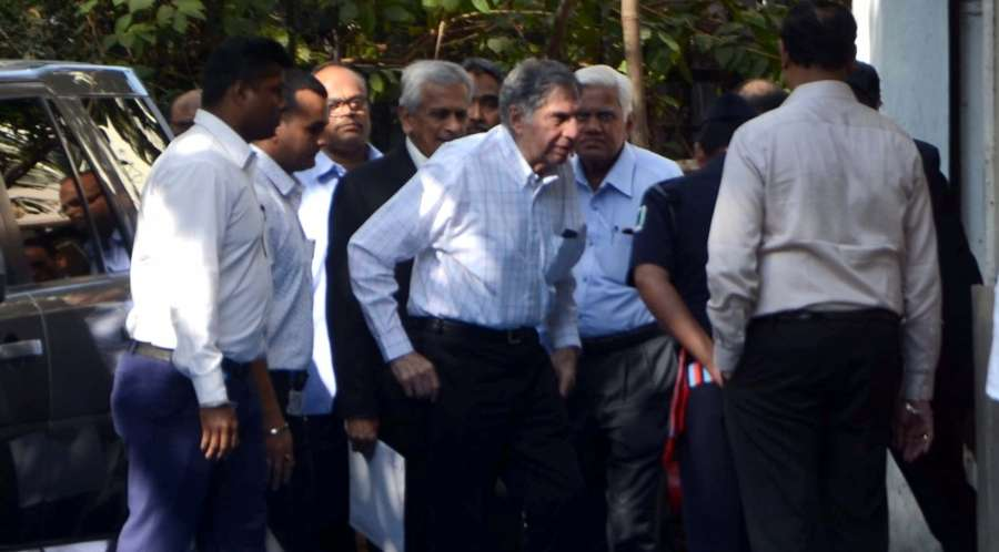 Mumbai: Tata Sons interim chairman Ratan Tata arrives at Y.B.Chavan Auditorium in Mumbai, on Dec 13, 2016. (Photo: IANS)