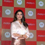 Mumbai: Actress Parineeti Chopra during the launch of Motorola Moto M smartphone in Mumbai, on Dec 13, 2016. (Photo: IANS)