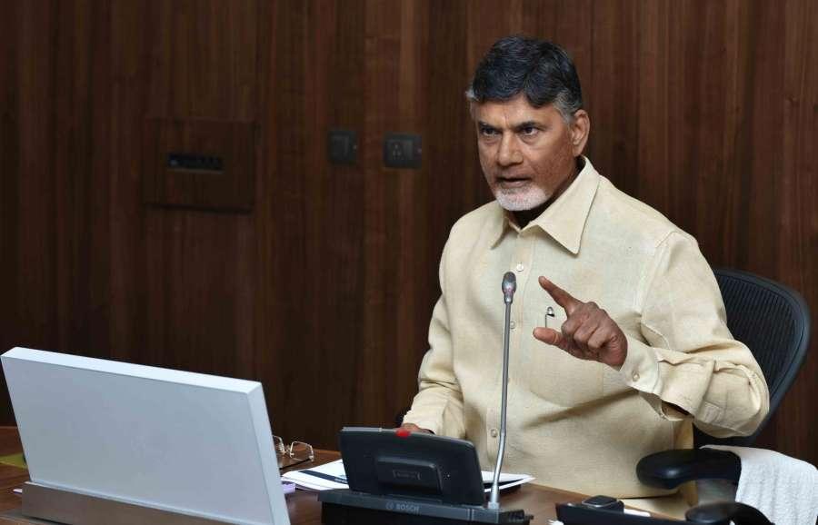 Amaravati: Andhra Pradesh Chief Minister N Chandrababu Naidu addresses during a meeting to plan for construction of Amaravati on Dec 14, 2016. (Photo: IANS)