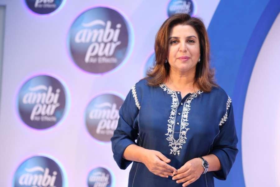 Mumbai: Filmmaker Farah Khan during a promotional event by Ambi Pur, in Mumbai, on Sept 13, 2016. (Photo: IANS)