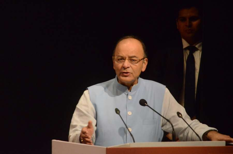 Mumbai: Union Minister for Finance and Corporate Affairs Arun Jaitley addresses during the inauguration of the new Campus of National Institute of Securities Markets (NISM), at Patalganga in Mumbai on Dec 24, 2016. (Photo: IANS)