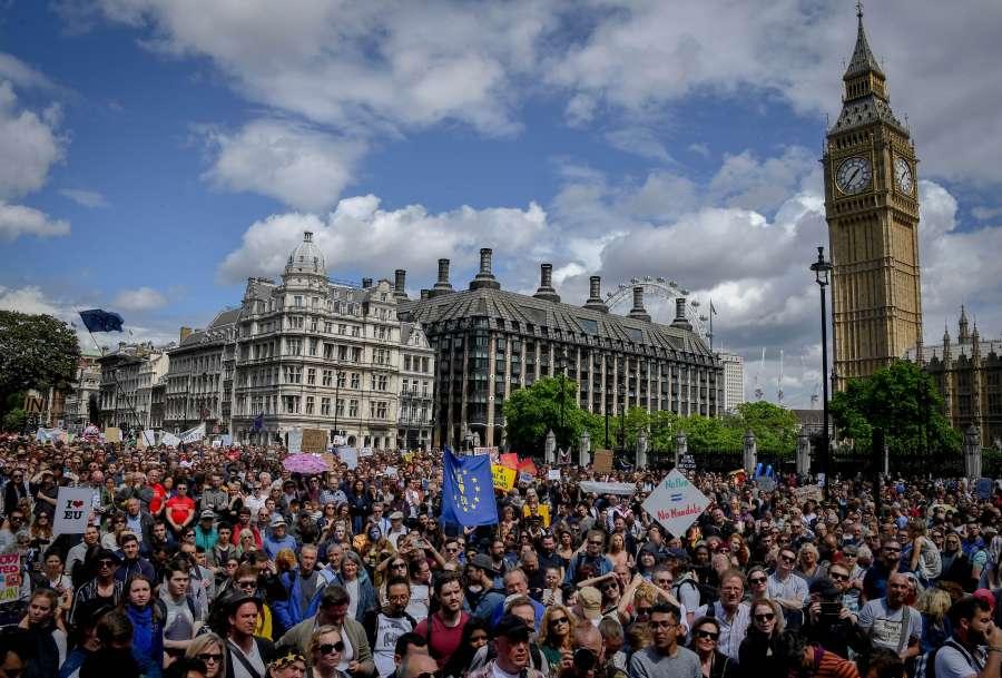 BRITAIN-LONDON-ANTI-BREXIT MARCH
