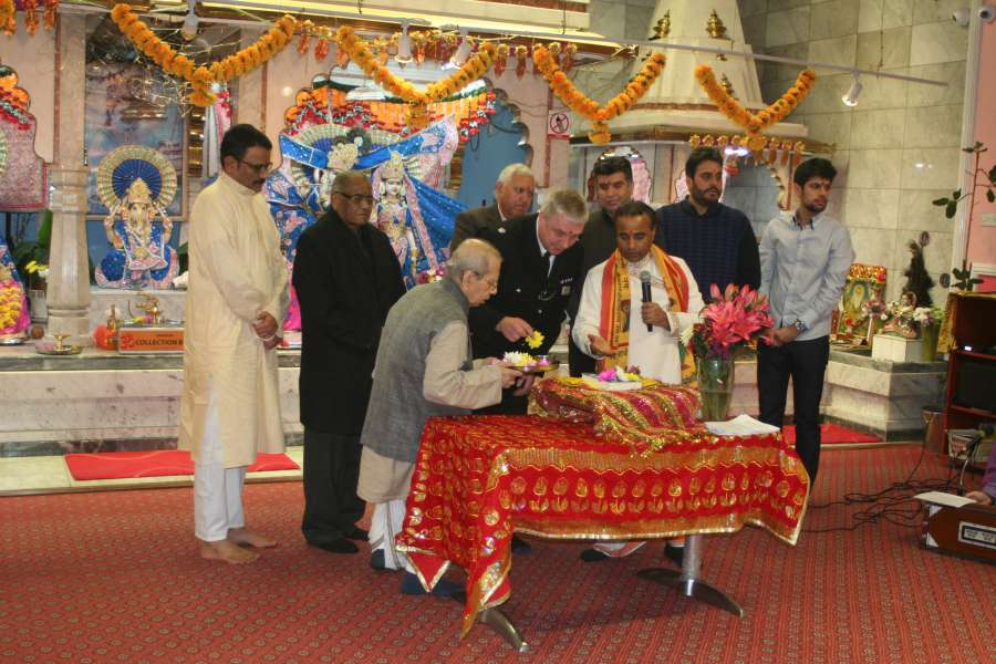 Gita Bhavan Hindu Temple, North West's largest Indian temple, has joined the International Gita Mahotsav with a prayer filled religious event