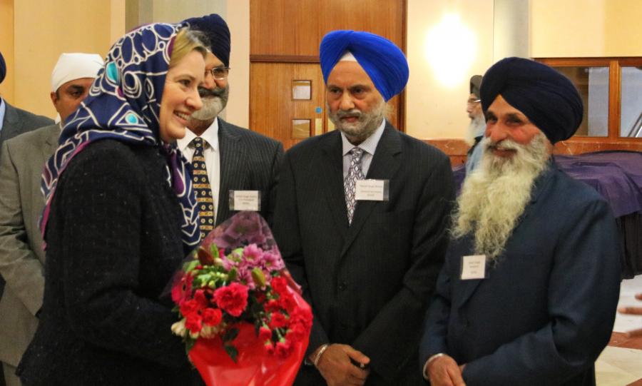 Home Secretary Amber Rudd visits Sri Guru Singh Sabha Gurdwara in Southall