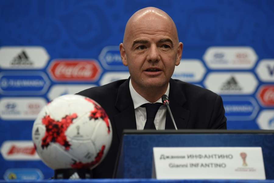 (SP)RUSSIA-KAZAN-FIFA-CONFEDERATIONS CUP-DRAW-PRESS CONFERENCE