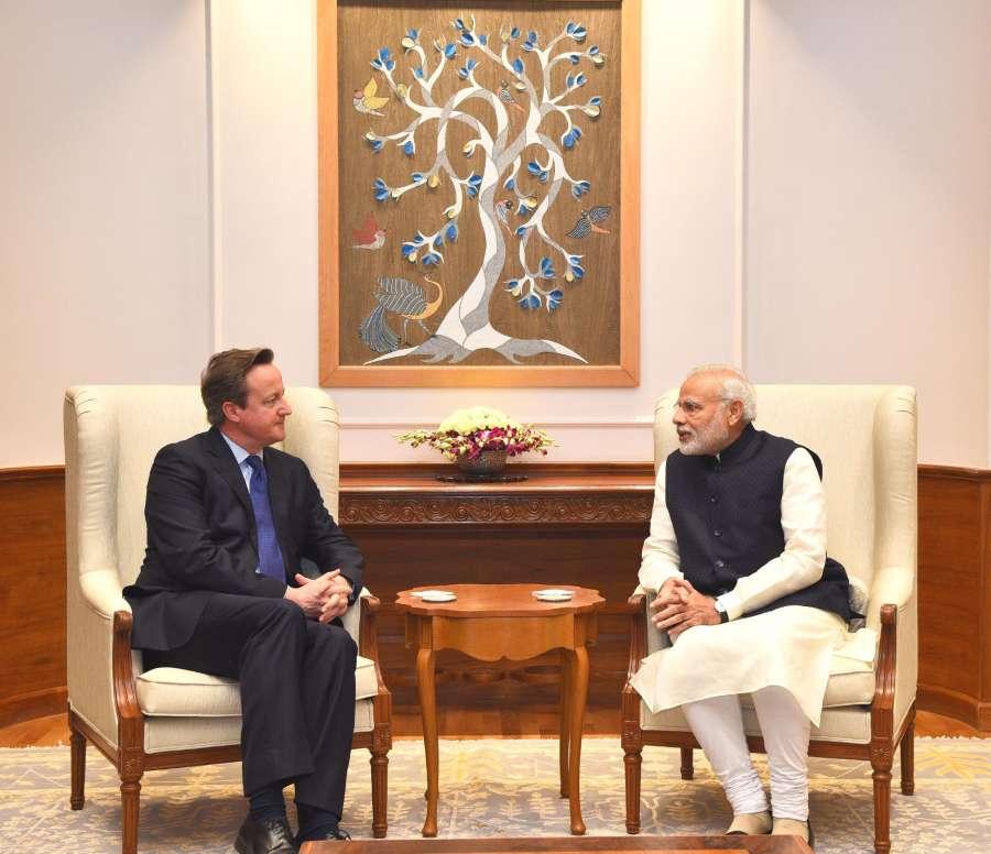 Former British Prime Minister David Cameron  with Modi