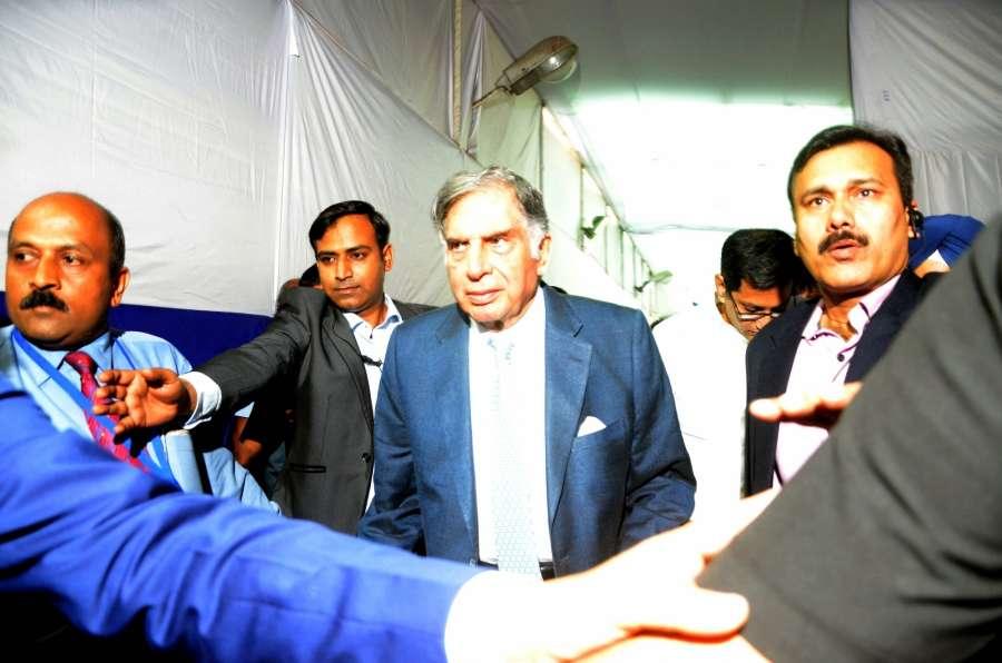 Mumbai: Tata Sons' interim Chairman Ratan Tata arrives to attend company's AGM in Mumbai on Dec 21, 2016. (Photo: IANS)