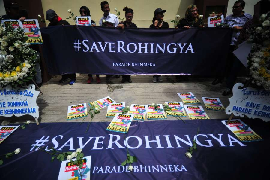 (WORLD SECTION) INDONESIA-JAKARTA-ROHINGYA-PROTEST