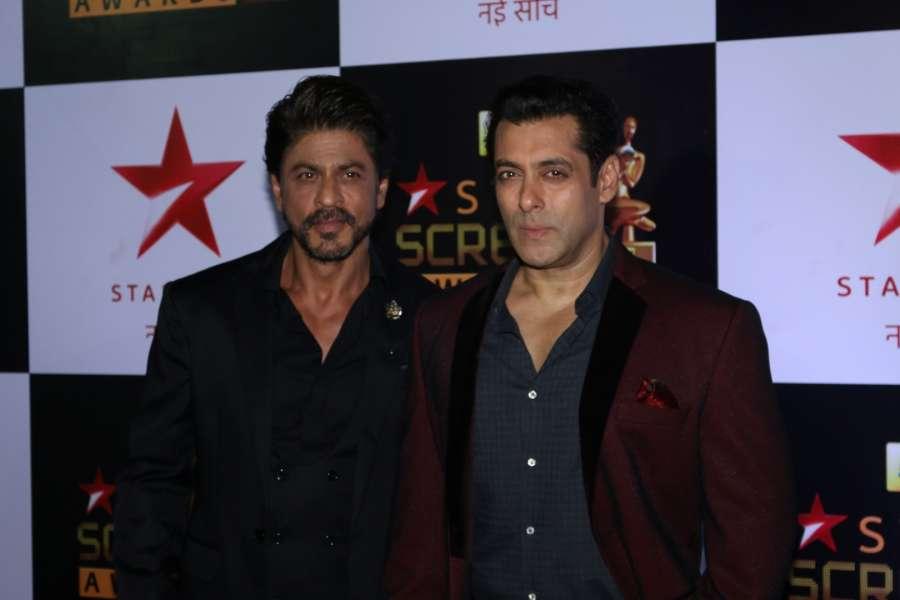Actors Shah Rukh Khan and Salman Khan. (File Photo: IANS)