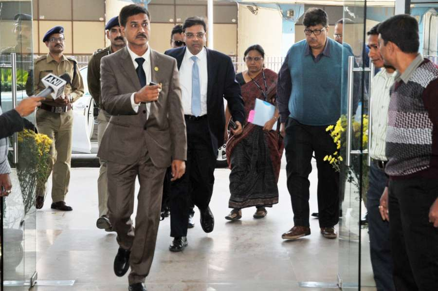 Howrah: Reserve Bank of India (RBI) Governor Urjit Patel arrives to meet West Bengal chief minister Mamata Banerjee at Nabanna in Howrah on Dec 15, 2016. (Photo: IANS)