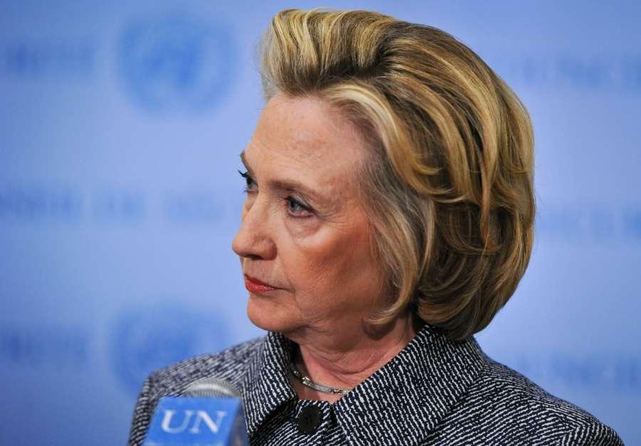 Former Democratic presidential nominee Hillary Clinton. (File Photo: Xinhua/IANS)