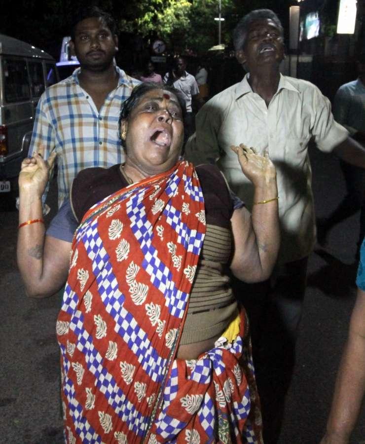 Chennai: Well wishers of Tamil Nadu Chief Minister J Jayalalithaa who suffered a cardiac arrest in Chennai gather outside Apollo Hospital on Dec 4, 2016. (Photo: IANS)