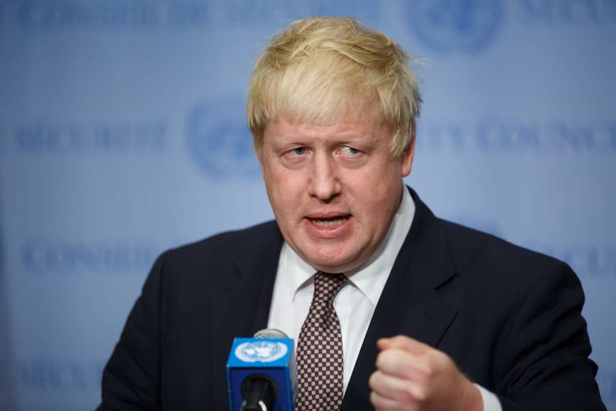 "UNITED NATIONS, July 22, 2016 (Xinhua) -- British Foreign Secretary Boris Johnson speaks to the press at the United Nations headquarters in New York, July 22, 2016. British Foreign Secretary Boris Johnson, promising ""there's a deal to be done"" on balancing freedom of movement and trade with members of the European Union, said here Friday the United Kingdom (UK) was going to ""be more visible, more active more energetic that ever before"" on the international stage. (Xinhua/Li Muzi/IANS)"