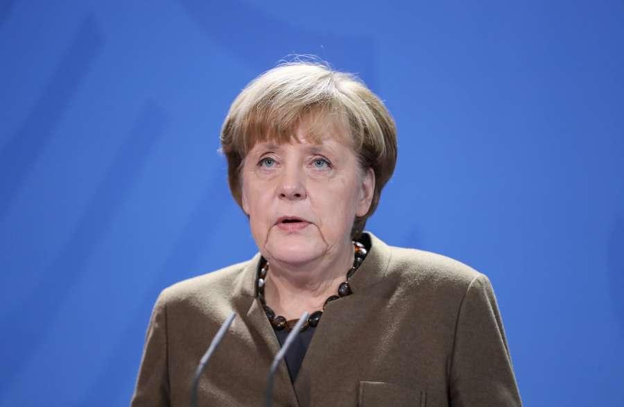 GERMANY-BERLIN-MERKEL-PRESS CONFERENCE