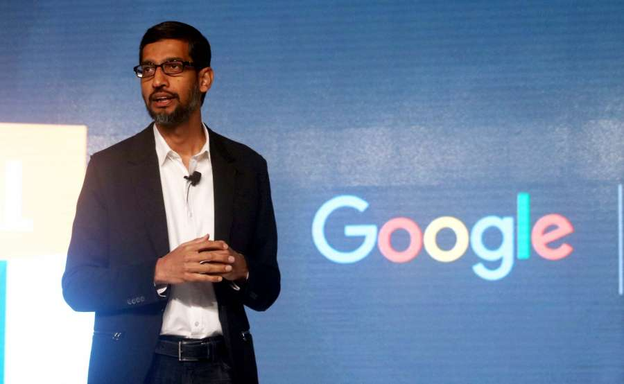 Google global CEO Sundar Pichai.(File Photo: IANS)