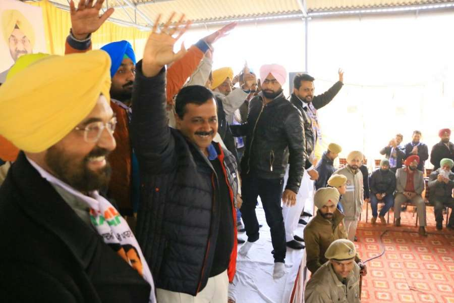 Chandigarh: Delhi Chief Minister and AAP leader Arvind Kejriwal during a party rally ahead of Punjab Assembly polls in Kharar near Chandigarh on Jan 17, 2017. (Photo: IANS) by .