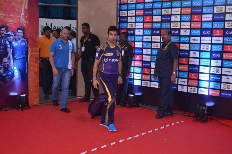 Mumbai: Indian cricketer Gautam Gambhir arrive for the opening ceremony of the Indian Premier League 2016, in Mumbai on April 8, 2016. (Photo: IANS) by .