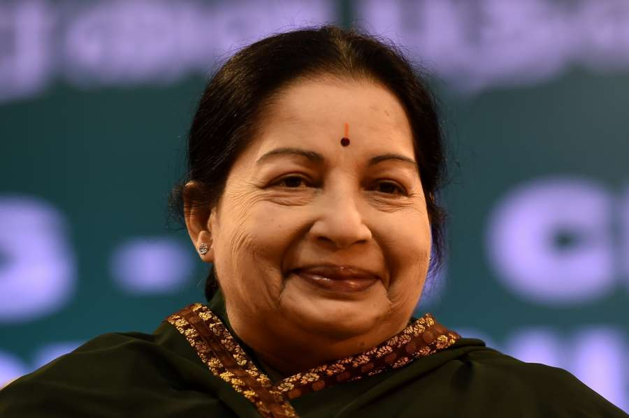 File Photo: : J. Jayalalithaa. (File Photo: IANS) by .