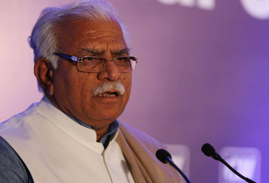 New Delhi: Haryana Chief Minister Manohar Lal Khattar addresses during a CII programme in New Delhi on Jan 15, 2016. (Photo: IANS) by .