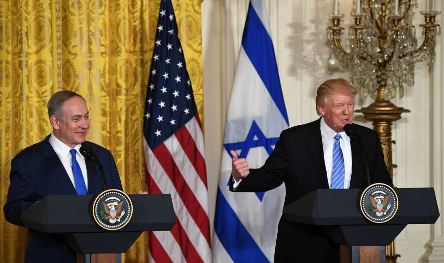 U.S.-WASHINGTON D.C.-TRUMP-ISRAEL-NETANYAHU-MEETING by .