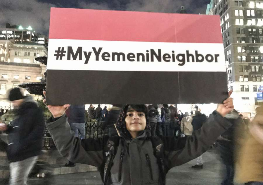 U.S.-NEW YORK-YEMENI COMMUNITY-PROTEST by .