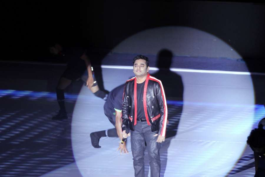 Chennai: Composer AR Rahman performs at the inaguration of Premier Futsal in Chennai on July 15, 2016. (Photo: IANS) by .