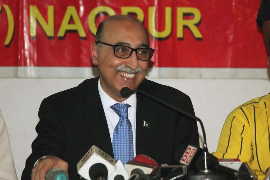 Nagpur: Pakistani High Commissioner Abdul Basit addresses a press conference in Nagpur on June 4, 2016. (Photo: IANS) by .