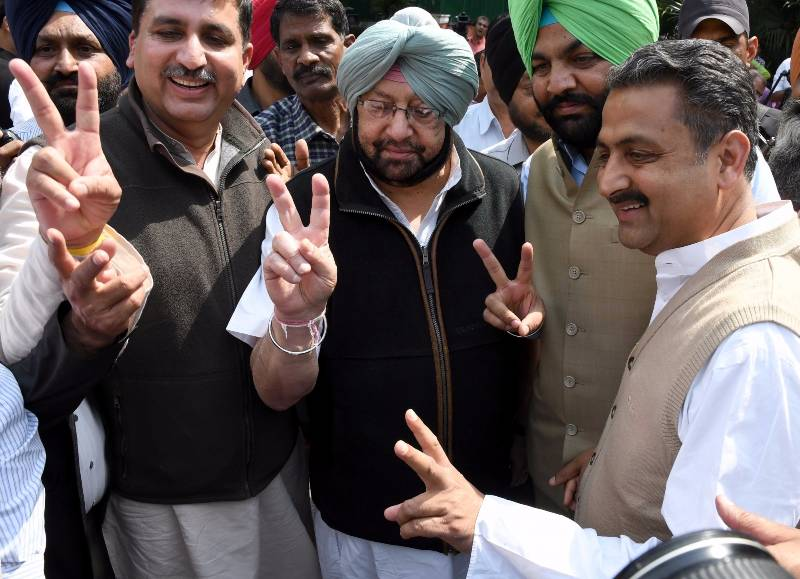 New Delhi: Punjab Congress chief Capt Amarinder Singh arrives to meet party's vice president Rahul Gandhi in New Delhi on March 14, 2017. (Photo: IANS) by .