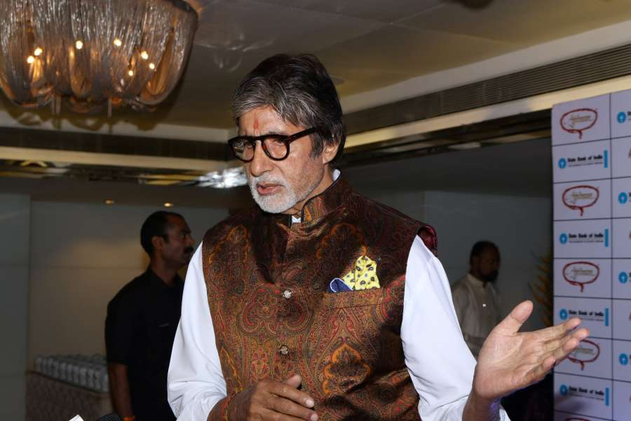 Mumbai: Actor Amitabh Bachchan during the Vasantotsav 2017 in Mumbai on Feb 26, 2017. (Photo: IANS) by .
