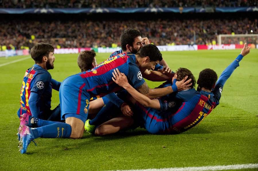 (SP)SPAIN-BARCELONA-SOCCER-UEFA-UCL-BARCELONA VS PARIS SAINT-GERMAIN by .