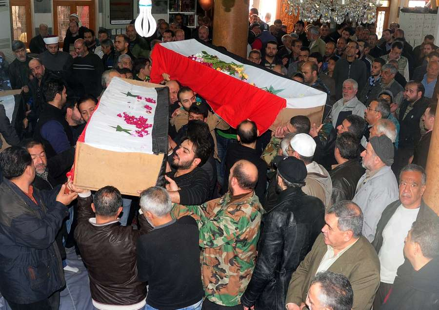 SYRIA-DAMASCUS-BOMBING-VICTIMS-SOLDIERS-FUNERAL by .