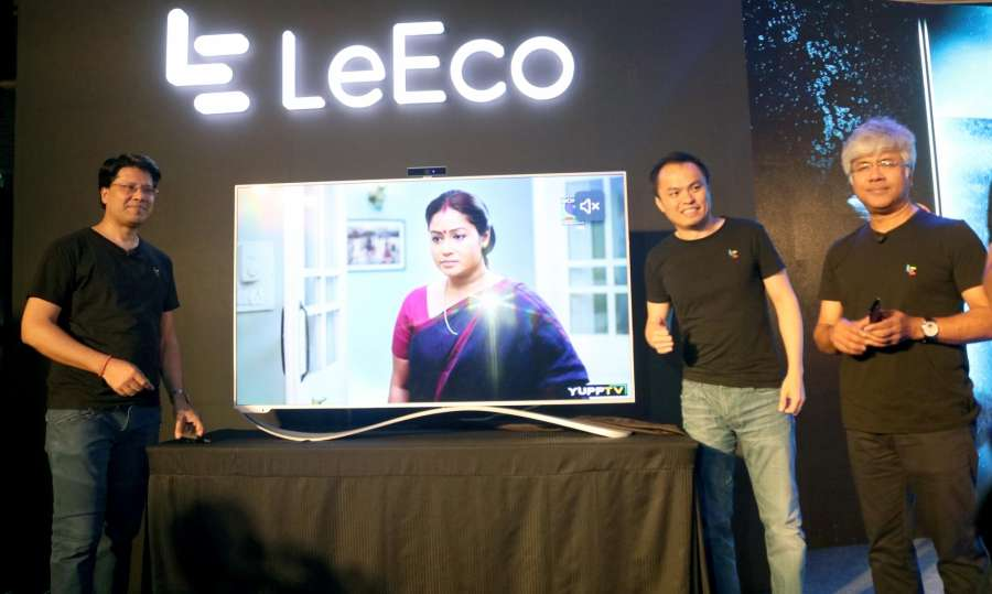 New Delhi: LeEco launches Le TV Super 3 Series in New Delhi, on Aug 4, 2016. (Photo: IANS) by .