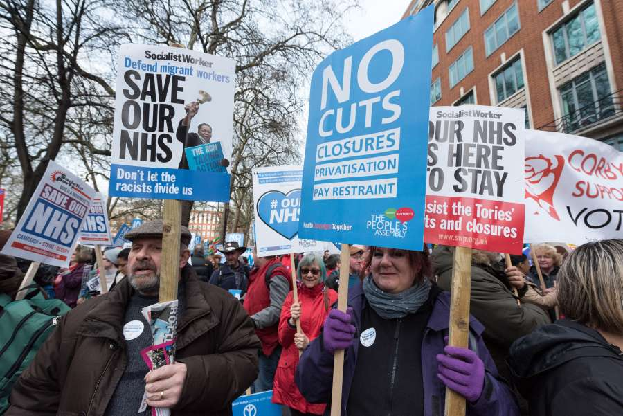 BRITAIN-LONDON-NATIONAL HEALTH SERVICE-PROTEST by .