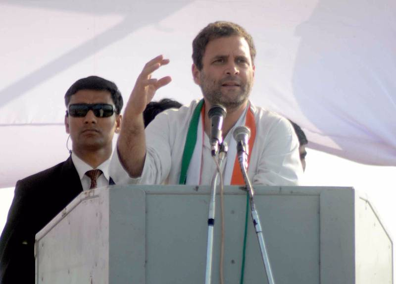 Banda: Congress vice-president Rahul Gandhi during a party rally in Banda, Uttar Pradesh on Feb 20, 2017. (Photo: IANS) by .