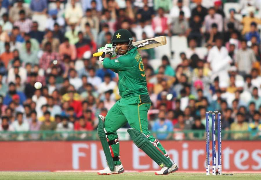 Mohali: Pakistan`s batsman Sharjeel Khan in action during a WT20 match between Australia and Pakistan at Punjab Cricket Association IS Bindra Stadium in Mohali, on March 25, 2016. (Photo: Surjeet Yadav/IANS) by .
