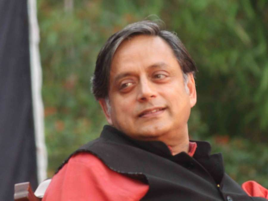 Secunderabad: Congress MP Shashi Tharoor addresses during the book launch 'The Whistleblowers' in Secunderabad on March 18, 2017. (Photo: IANS) by .